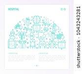 hospital concept in half circle ... | Shutterstock .eps vector #1043243281