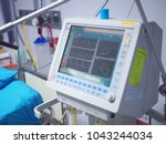 monitor screen of the alarm... | Shutterstock . vector #1043244034