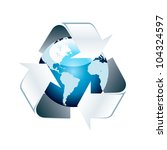 recycle world. | Shutterstock .eps vector #104324597