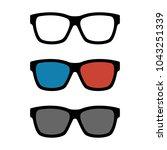 set of black frame optical...   Shutterstock .eps vector #1043251339