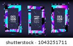 placard templates set with... | Shutterstock .eps vector #1043251711