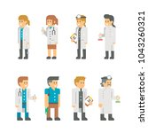 flat design medical staffs and... | Shutterstock .eps vector #1043260321