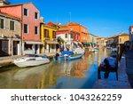 island murano in venice italy... | Shutterstock . vector #1043262259
