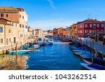island murano in venice italy...   Shutterstock . vector #1043262514