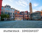 campo san anzolo square and the ...   Shutterstock . vector #1043264107