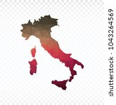 map polygonal italy map.... | Shutterstock .eps vector #1043264569