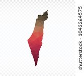 map polygonal israel map.... | Shutterstock .eps vector #1043264575