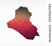 map polygonal iraq map.... | Shutterstock .eps vector #1043264581