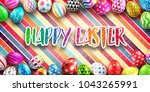 background for happy easter day ... | Shutterstock .eps vector #1043265991