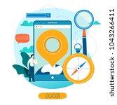 mobile navigation app ... | Shutterstock .eps vector #1043266411