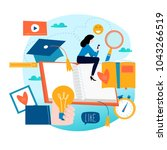 education  online training... | Shutterstock .eps vector #1043266519