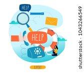 customer service  customer... | Shutterstock .eps vector #1043266549
