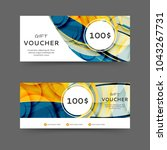 gift voucher discount template... | Shutterstock .eps vector #1043267731