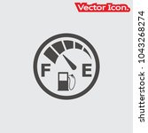 fuel icon isolated sign symbol... | Shutterstock .eps vector #1043268274