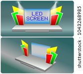 stage led screen with...   Shutterstock .eps vector #1043268985