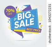 big sale  sale banners  tags ... | Shutterstock .eps vector #1043272231