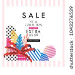 sale poster for shopping ... | Shutterstock .eps vector #1043276539