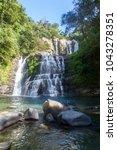 nauyaca waterfalls with a deep... | Shutterstock . vector #1043278351