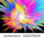 explosion of saturated virtual... | Shutterstock . vector #1043278645