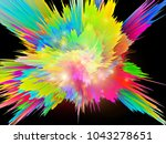 explosion of saturated virtual... | Shutterstock . vector #1043278651