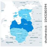 political map of the baltic... | Shutterstock .eps vector #1043280394