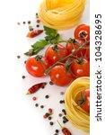 pasta and fresh tomatos... | Shutterstock . vector #104328695