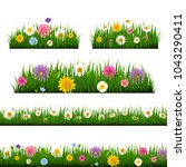 grass and border collection... | Shutterstock .eps vector #1043290411