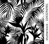 black white silhouette vector... | Shutterstock .eps vector #1043296981