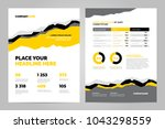 yellow brochure template design ... | Shutterstock .eps vector #1043298559