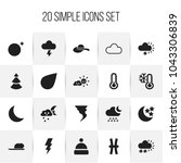 set of 20 editable air icons....