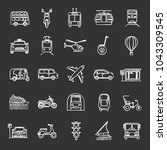 public transport chalk icons... | Shutterstock .eps vector #1043309545