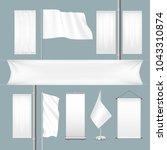 vector template white blank... | Shutterstock .eps vector #1043310874