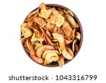 dried fruits in a plate on a... | Shutterstock . vector #1043316799