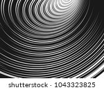 abstract halftone lines... | Shutterstock .eps vector #1043323825