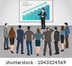 presentation business... | Shutterstock .eps vector #1043324569