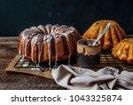 easter cakes  brioche. yeast... | Shutterstock . vector #1043325874