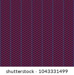 isometric grid. vector seamless ... | Shutterstock .eps vector #1043331499