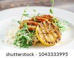 duck with noodles | Shutterstock . vector #1043333995