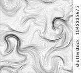 moire waves warped line texture ... | Shutterstock .eps vector #1043335675