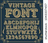 letters vintage vector design...   Shutterstock .eps vector #1043337457