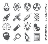 science icons on white... | Shutterstock .eps vector #1043349919