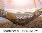summer vacations concept  happy ... | Shutterstock . vector #1043351794