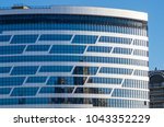 facing the building with a... | Shutterstock . vector #1043352229