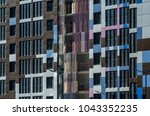 facing the building with a... | Shutterstock . vector #1043352235