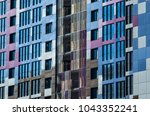 facing the building with a... | Shutterstock . vector #1043352241