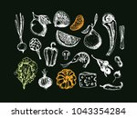 hand drawn doodle healthy food | Shutterstock .eps vector #1043354284