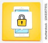 smartphone 3d isometry flat... | Shutterstock .eps vector #1043357551