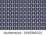 geometric ethnic pattern... | Shutterstock .eps vector #1043360131