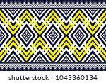 geometric ethnic pattern... | Shutterstock .eps vector #1043360134