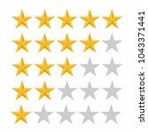 five rating star. customer... | Shutterstock .eps vector #1043371441